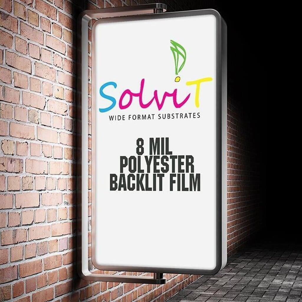 Solvit Heavy Polyester Backlit Film for Airports